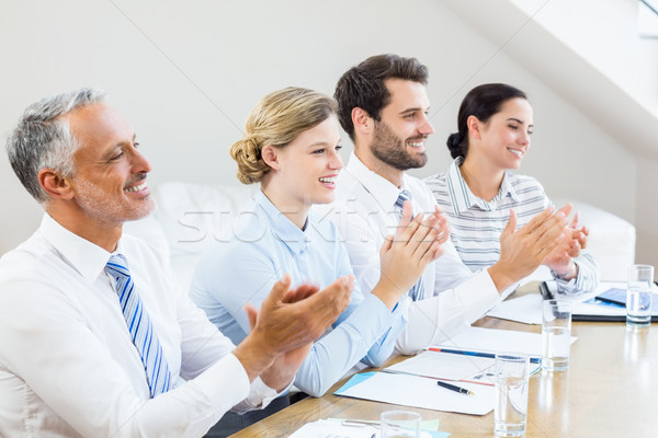 Business colleagues applauding in a meeting Stock photo © wavebreak_media