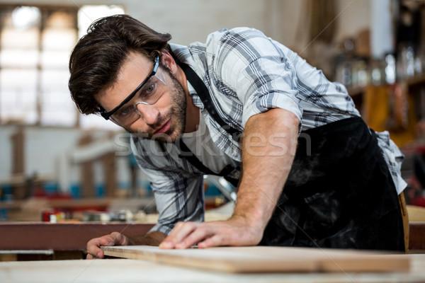 плотник рабочих пыльный семинар здании человека Сток-фото © wavebreak_media