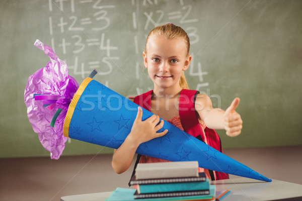 Schoolchild having her first day Stock photo © wavebreak_media