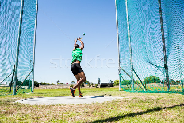 Athlete performing a hammer throw Stock photo © wavebreak_media