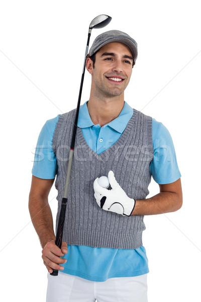 Szczęśliwy stałego piłeczki do golfa golf klub Zdjęcia stock © wavebreak_media