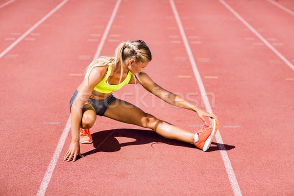 Feminino atleta para cima corrida seguir Foto stock © wavebreak_media
