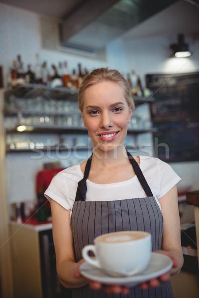 Portre garson kahvehane çekici kadın Stok fotoğraf © wavebreak_media