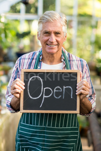 счастливым зрелый владелец плакат Сток-фото © wavebreak_media