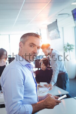 érett diák ír jegyzetek portré osztályterem Stock fotó © wavebreak_media