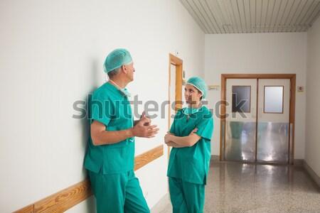 Sprawozdanie schowek korytarz szpitala Zdjęcia stock © wavebreak_media