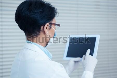 Kadın cerrah dijital tablet hastane Stok fotoğraf © wavebreak_media