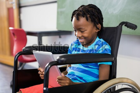 портрет мальчика сидят коляске мишка ребенка Сток-фото © wavebreak_media