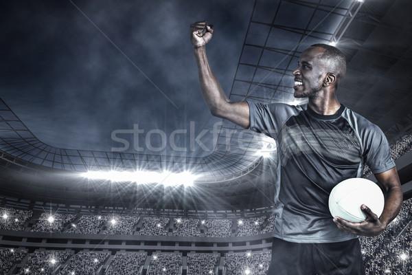 Görüntü yumruk zafer futbol Stok fotoğraf © wavebreak_media