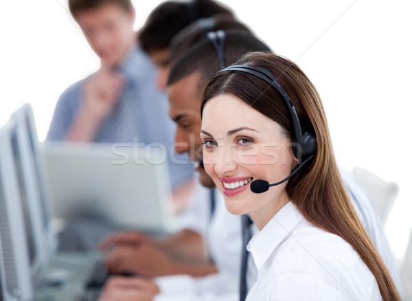 Successful business team working in a call center Stock photo © wavebreak_media