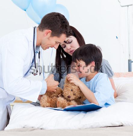 Adorable little boy attending a medical exam  Stock photo © wavebreak_media