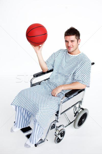 Patiënt rolstoel mand bal aantrekkelijk Stockfoto © wavebreak_media