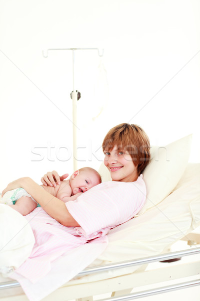 Mother embracing her newborn baby with copy-space Stock photo © wavebreak_media