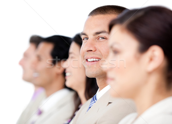 Self-assured business people standing in a line  Stock photo © wavebreak_media