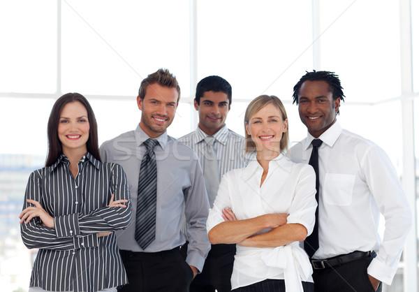 Retrato feliz grupo pessoas de negócios olhando câmera Foto stock © wavebreak_media