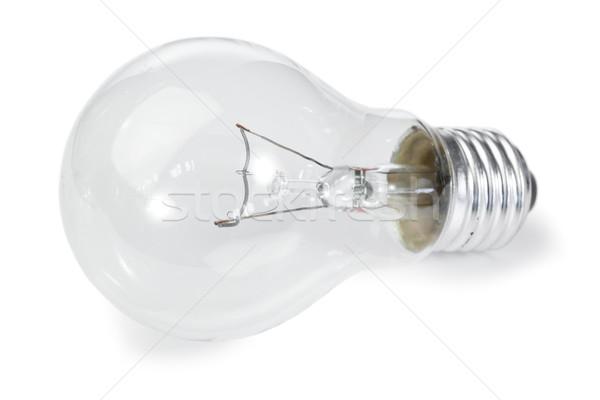 Izolált villanykörte fehér technológia üveg háttér Stock fotó © wavebreak_media