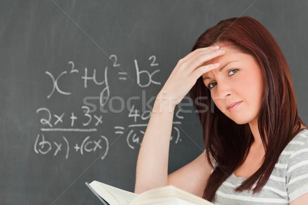 Kadın çözmek denklem sınıf okul Stok fotoğraf © wavebreak_media