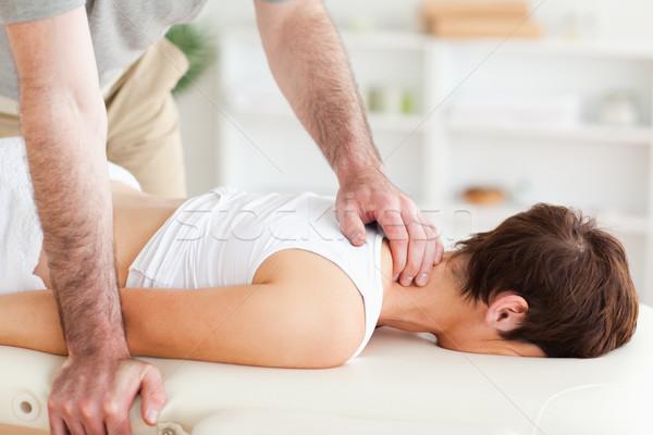 массажист шее стороны спорт тело Сток-фото © wavebreak_media