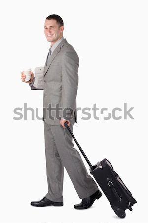 Ritratto imprenditore bianco caffè capelli aeroporto Foto d'archivio © wavebreak_media