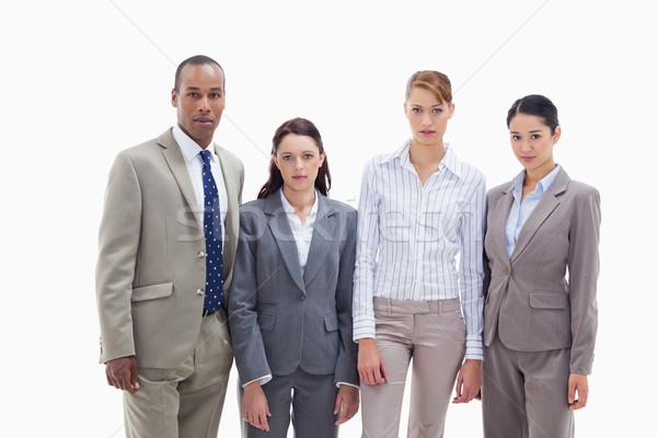Sério equipe de negócios lado branco empresário preto Foto stock © wavebreak_media
