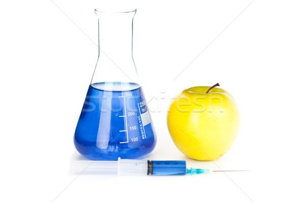 Apple genetically modified against a white background Stock photo © wavebreak_media