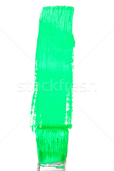 Green vertical line of painting Stock photo © wavebreak_media