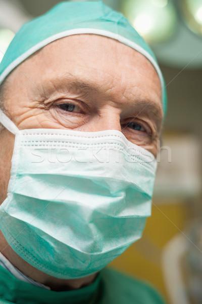 Chirurg twarz maska chirurgiczny pokój Zdjęcia stock © wavebreak_media