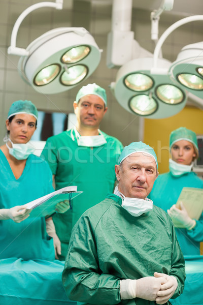хирург сидят рук команда за хирургический Сток-фото © wavebreak_media