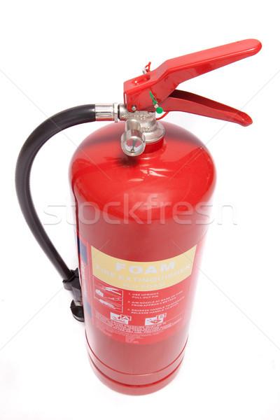 Köpük yangın söndürücü kırmızı beyaz arka plan Stok fotoğraf © wavebreak_media