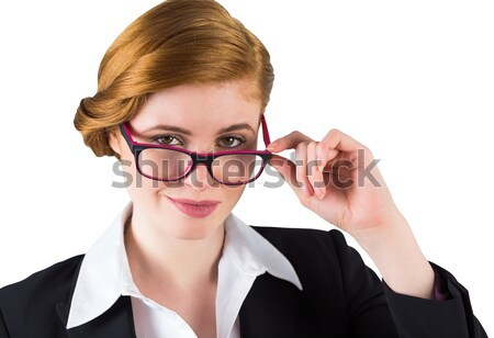 Retrato frustrado mulher de negócios cabeça jovem Foto stock © wavebreak_media