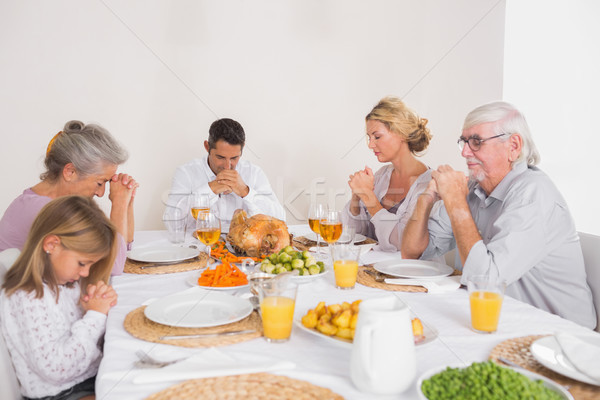 Familie gezegde eten Turkije diner huis Stockfoto © wavebreak_media