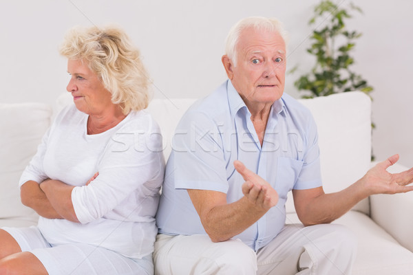Woman being angry against a missunderstanding man Stock photo © wavebreak_media