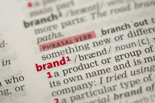 Marca definizione dizionario marketing informazioni concetto Foto d'archivio © wavebreak_media