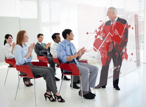 Zdjęcia stock: Ludzi · biznesu · stałego · czerwony · Pokaż · schemat