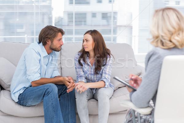 пару глядя другой терапии терапевт говорить Сток-фото © wavebreak_media