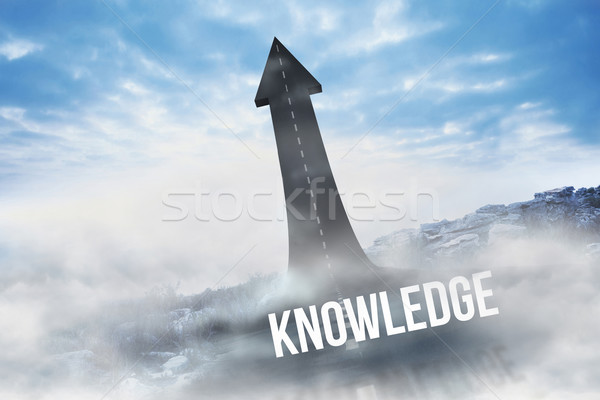 Knowledge against road turning into arrow Stock photo © wavebreak_media
