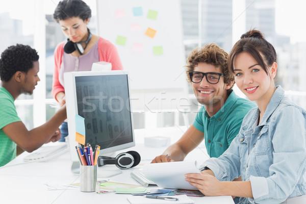 Pracy biurko twórczej biuro grupy przypadkowy Zdjęcia stock © wavebreak_media