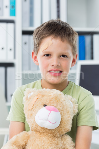 Erkek oyuncak ayı klinik portre küçük ofis Stok fotoğraf © wavebreak_media