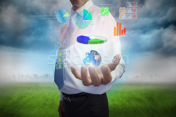 ビジネスマン インターフェース デジタル複合 手 デザイン ストックフォト © wavebreak_media