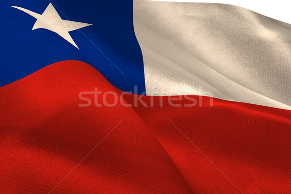 Chile banderą Zdjęcia stock © wavebreak_media