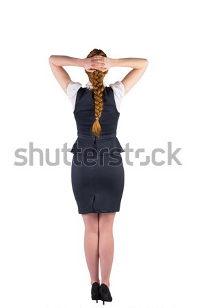 Redhead businesswoman standing with hands on head Stock photo © wavebreak_media