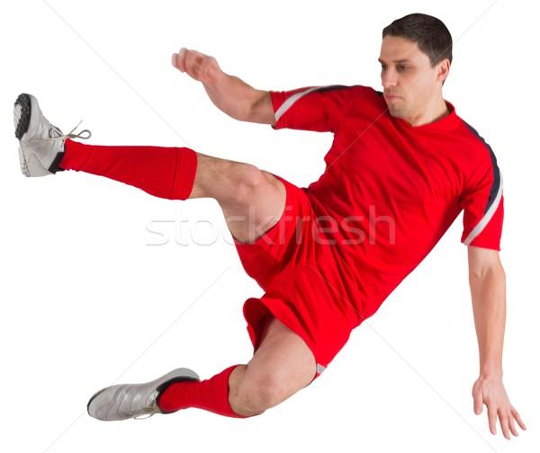 Montare jumping calci bianco uomo Foto d'archivio © wavebreak_media