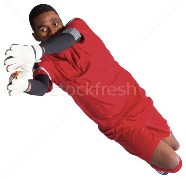 Torhüter rot sparen weiß Fußball Stock foto © wavebreak_media