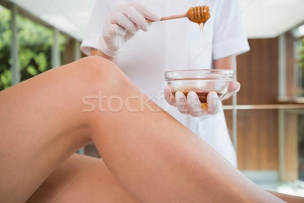 Сток-фото: женщину · ног · красоту · терапевт · отель