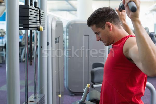 強い ボディービルダー 重量 マシン 腕 ジム ストックフォト © wavebreak_media