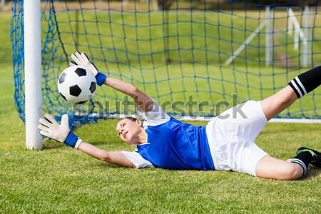 вратарь красный сохранить трава спорт Сток-фото © wavebreak_media