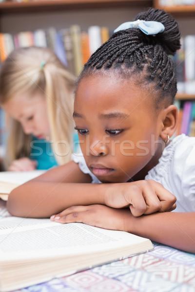 かわいい 読む 図書 ライブラリ 小学校 ストックフォト © wavebreak_media