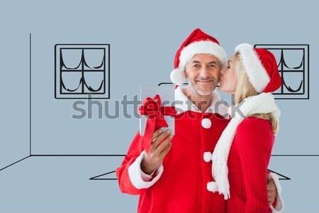 Gelukkig paar warme kleding witte vrouw liefde Stockfoto © wavebreak_media