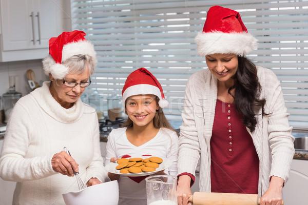 Család sütés együtt otthon konyha nő Stock fotó © wavebreak_media
