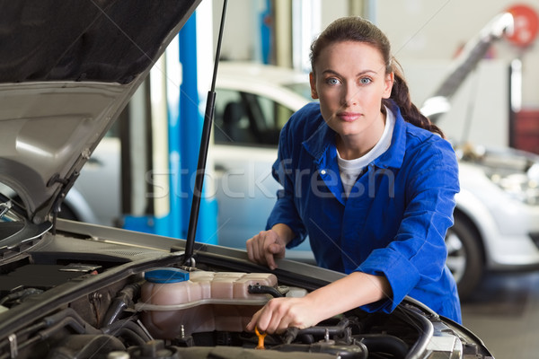 Mechanic working under the hood  Stock photo © wavebreak_media